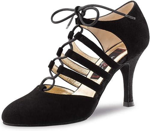 Nueva Epoca Femmes Chaussures de Danse April - Suéde Noir - 8 cm Stiletto