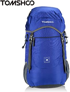 TOMSHOO 40L Ultra Lightweight Backpack Water-Resistant Nylon Backpack Foldable Outdoor Backpack for Hiking/camping/Cycling