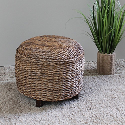 International Caravan Furniture Piece Arizona Abaca Round Cushioned Top Stool
