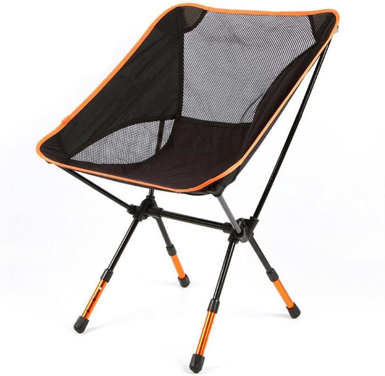 Bump-Bend Thick Ultra-Lightweight Folding Stool with Aluminum Folding Chair Multi-Purpose Fishing Chair Car