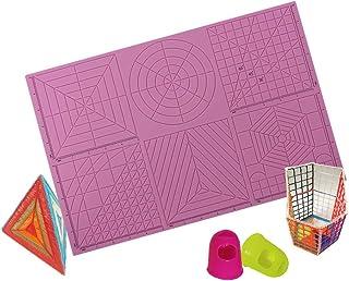 Aibecy - Lápices 3D de silicona mate con plantilla para dibujar y tabla para copiar (2 unidades), color rosa