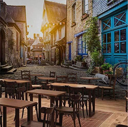 Papel de pared mural 3D, pintura fotográfica personalizada para casas antiguas, calle tranquila de la ciudad, luz solar, papel tapiz, pared de fondo, papel tapiz(W)200x(H)140cm