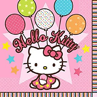 amscan Beverage Napkins | Hello Kitty Balloon Dreams Collection | Party Accessory
