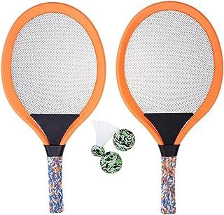 Conjunto de 2 conjuntos de raquete de tênis de praia e bolas de pássaros BESPORTBLE, jogo interno e externo para crianças,...