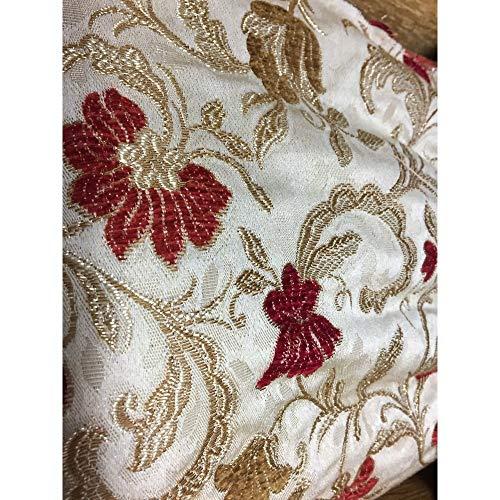 Brocados, terciopelo flores, satinado x tapicería de doble cara de 50 cm de alto 280 cm - Bordò