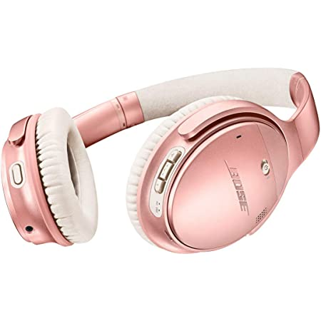 Bose QuietComfort 35 II Wireless Bluetooth Headphones, Noise-Cancelling, with Alexa voice control, enabled with Bose AR - Rose Gold Renewed