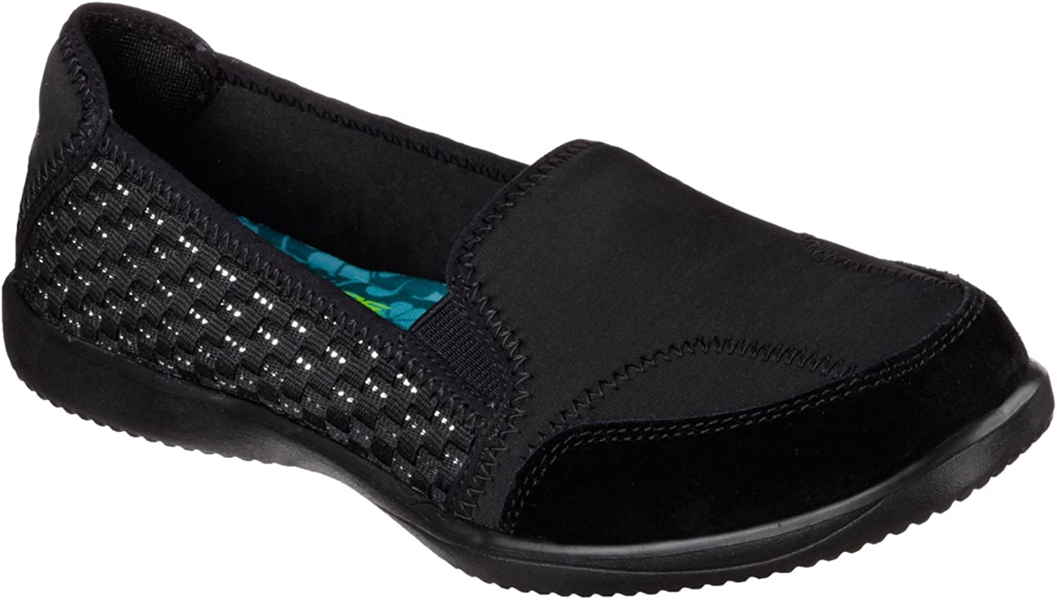Skechers Relaxed Fit Spectrum Showy Womens Slip On Flats Black 5.5