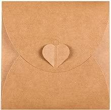Retro Love CD DVD Kraft Paper Sleeves Envelope from Ocharzy (100 Pack, A)