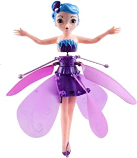 ZGHYBD Flying Ball Fairy Toys,Toys Ballet Girl Flying Princess Toy Induction Control Flying Toys USB Charging Remote Contr...