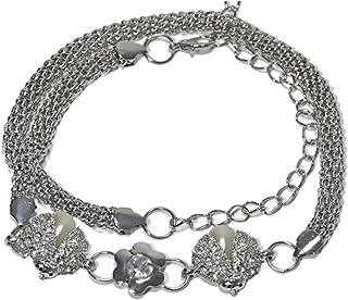 Decorative Thin Belt Female Waist Women's Fashion Rhinestone Inlaid Elastic Waist Chain (Color : Silver, Size : 110cm)