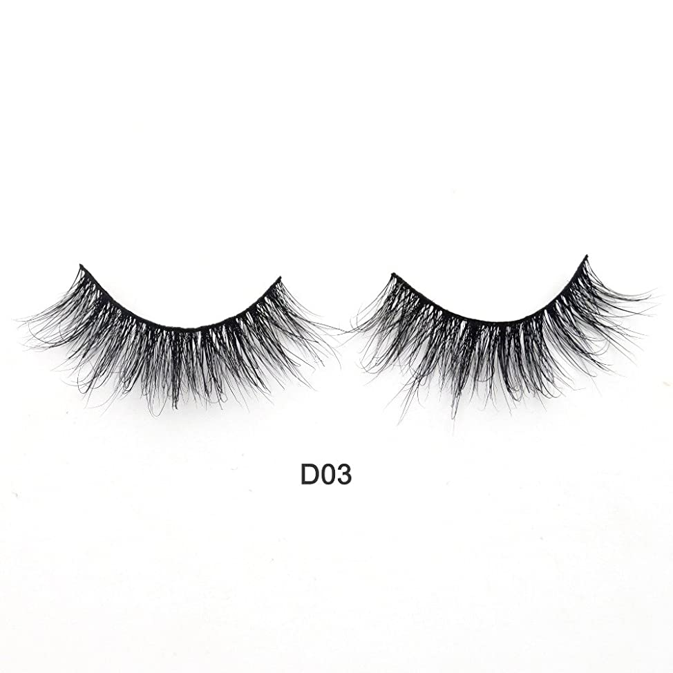 わかりやすい保存航海の(D03) Visofree Eyelashes 3D Mink Lashes Luxury Hand Made Mink Eyelashes Medium Volume Cruelty Free Mink False Eyelashes Upper Lashes