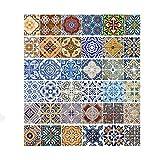 Pegatinas de escalera de azulejos vintage Pegatinas Simulación de pelado Pegatinas de escalera de...