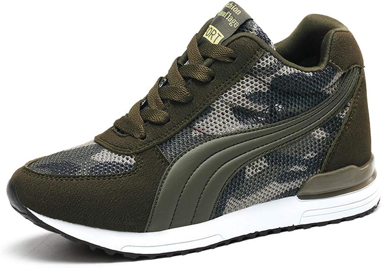 No.66 Town Women's Camouflage High-Heel Sneakers Inner Heightening Leisure Running shoes US 4.5-10