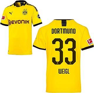 PUMA Borussia Dortmund BVB Heimtrikot 2019/20 Home Trikot Sponsor BL Logo Herren Kinder Spieler Name gelb
