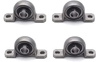 Antrader 10mm KP000 Bore Diameter Ball Bearing Pillow Block Mounted Support Caliber Zinc Alloy Insert Bearing 4-Pack
