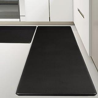 Kitsure Kitchen Rugs, [2 PCS] Cushioned Anti-Fatigue Kitchen Mat, Waterproof & Non-Slipping Kitchen Mat for Floor, Durable...