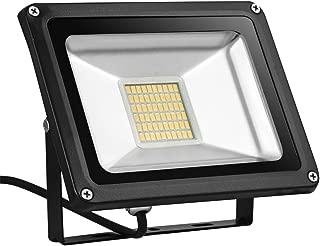 LED Flood Light,Getseason, 10W 20W 30W IP65 Waterproof,Aluminium 12V Wall Outdoor Stadium Lights,Super Bright Security Lights,for Garden,Yard,Factory,Warehouse,Square,Billboard (Warm White, 30W)