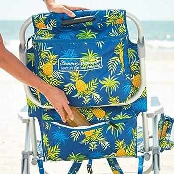 Tecnovoz Tommy Bahamas 2000998 Chaise de plage pliable avec poignées Jaune/jaune/ananas