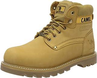 CAMEL CROWN Boots Homme Cuir Boots de Travail Hommes Cuir Véritable Botte de Protection Semelle en Caoutchouc Industrielle...