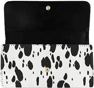 Women's Trifold Clutch Card Holder Dalmatians Animal Print Long Purses Handbags