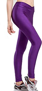 Women Fluorescent Colors Tights Stretched Sports Leggings Yoga Pants