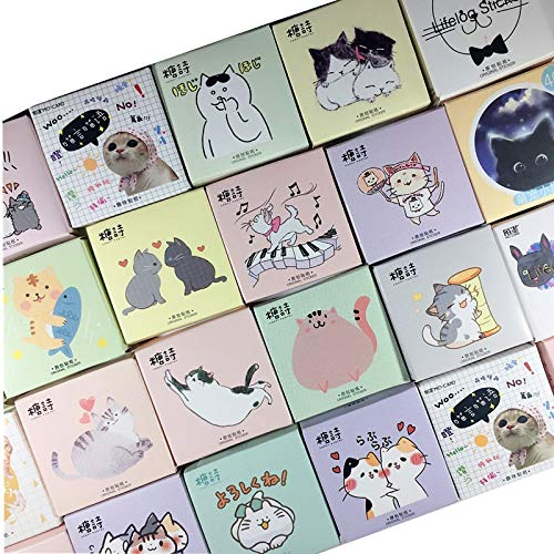 Kawaii Kat collectie Papier Kleine Dagboek Mini Japanse Leuke doos Stickers set Scrapbooking Leuke Flakes Journal briefpapier