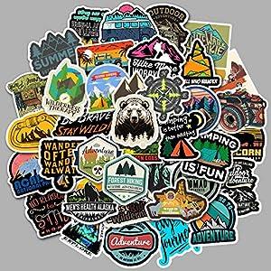 JZLMF 100 hojas de pegatinas de graffiti para exteriores, para viajes, paisajes, maletas, coches, monopatines, impermeables
