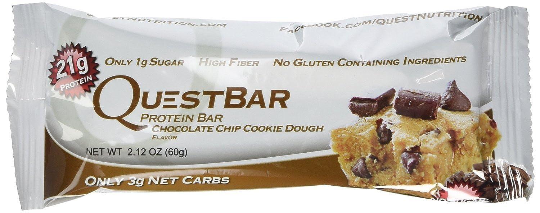 Quest Nutrition プロテインバー チョコチップクッキー生地 Chocolate Chip Cookie Dough 24本セット 【並行輸入品】