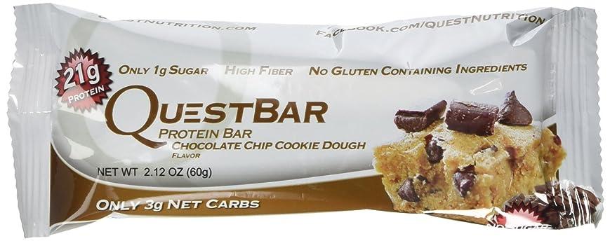 ゴシップパラダイス殺すQuest Nutrition プロテインバー チョコチップクッキー生地 Chocolate Chip Cookie Dough 24本セット 【並行輸入品】