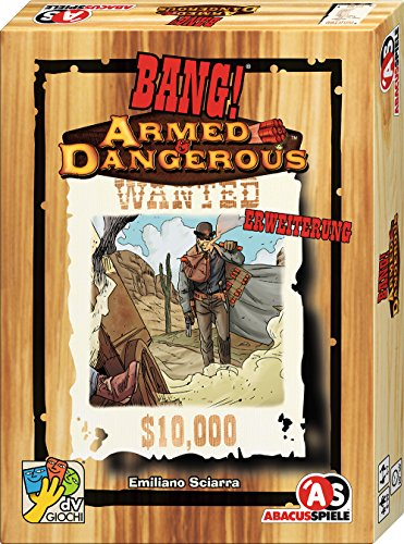 ABACUSSPIELE Bang! 38181 - Juego de Cartas de expansión del ejército y Dangerous (Armado y Peligroso: así Llegan los nuevos héroes en la Ciudad)