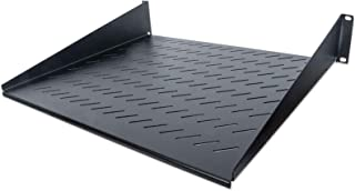 Intellinet 19' Fachboden zur Frontmontage 2 HE ( Montage an den beiden vorderen Profilschienen ) 400 mm Tiefe perforiert schwarz 712514