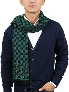 Versace IT00628 VERDE Emerald Green 100% Wool Mens Scarf