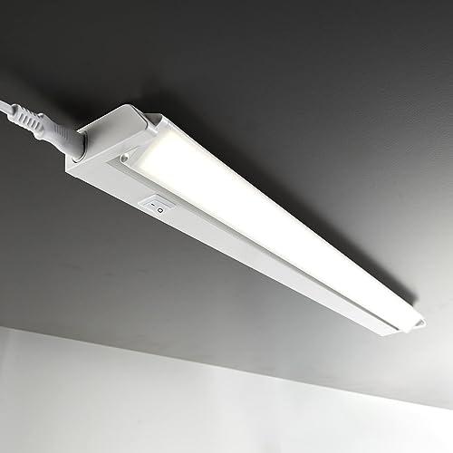 B.K. Licht réglette LED orientable, luminaire pour meubles placard cuisine, design moderne éclairage intérieur, lumiè...