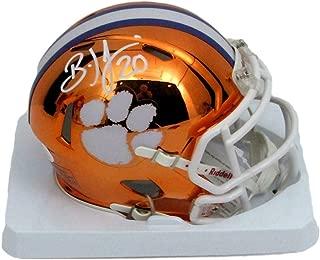 Brian Dawkins Signed/Autographed Clemson Orange Chrome Mini Helmet 146967 - JSA Certified - Autographed College Mini Helmets