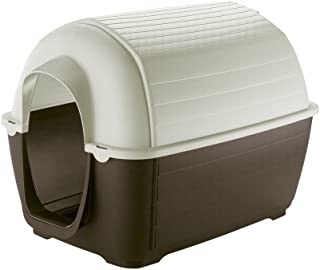 Ferplast KENNY 01 Dog House, Anti-shock and U.V. Rays Resistant Plastic, Vent/Drain System