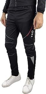Santic Men's Cycling Pants Fleece Thermal Windproof Pants Trousers Winter