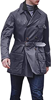 XINHEO Men Business Solid with Belt Double-Breasted Trench
