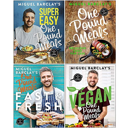 Miguel Barclay One Pound Meals Collection 4 Books Set (Super Easy One Pound Meals, One Pound Meals,...