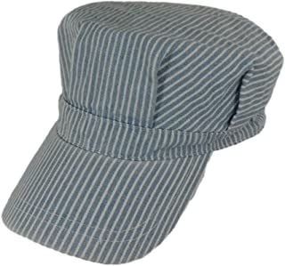 Child`s Blue Engineer Train Conductor Hat