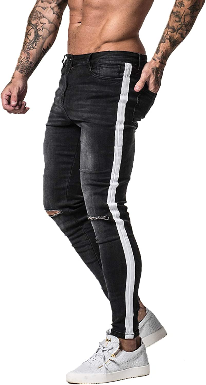 GINGTTO Mens Ripped Jeans Slim Fit Skinny Stretch Jeans Pants