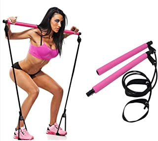 IYOWEL Pilates Bar Kit with Resistance Band, Portable Home Gym Workout Package,Resistance Band and Toning Bar Yoga Pilates...