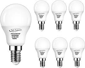 Tech Traders P45 LED Golf Ball Light Bulbs, E14, 5 W, Warm White