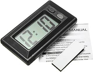 qingtang37 2 en 1 R/étro-/éclairage num/érique LCD pour v/éhicules Automobiles Thermom/ètre Horloge Calendrier Affichage dair de Voiture Vent de Sortie Clipser Horloge