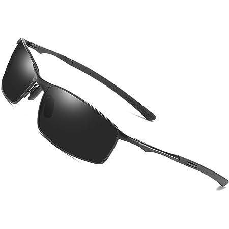 Schwarz AORON Polarisierte Sonnenbrille Herren Sportbrille UV-Schutz Fahrbrille Polarisiert Brille mit Federscharnier f/ür CE