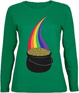 Halloween Pot of Gold Rainbow Costume Womens Long Sleeve T Shirt
