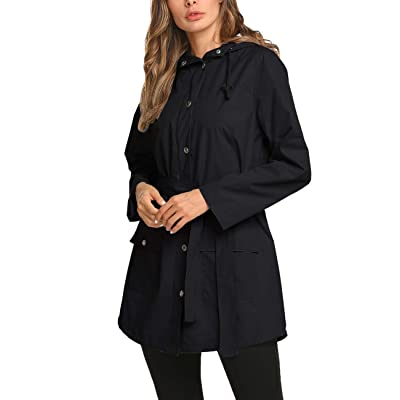 Save 70% Womens Lined Rain Jacket Waterproof Raincoat Lightweight with Hood for Outdoor Active