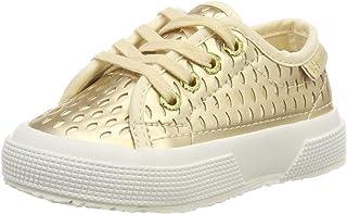 Superga Girls' 2750-laseredsyntpearledj Gymnastics Shoes, Gold (Platinum 974), 13 UK