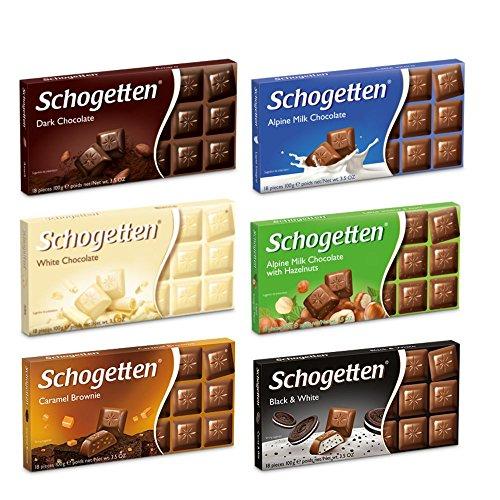 Schogetten German Chocolate Variety Pack of 6 Bars