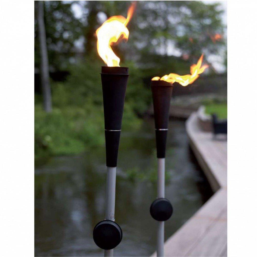 Antorcha de jardín con funcionamiento de lámpara de aceite, metal: Amazon.es: Jardín