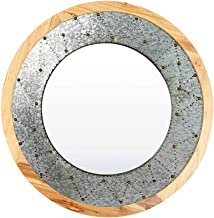 GRJ Produtos Domésticos e Espelhos de Parede para Sala de Estar, Redondos, Ferro Forjado, Espelhado, Espelho Decorativo pa...